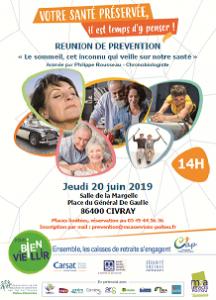 REUNION DE PREVENTION « Le sommeil, cet inconnu qui veille sur notre santé » - 86400 CIVRAY @ Salle de la Margelle | Civray | Nouvelle-Aquitaine | France