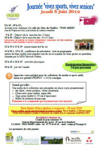 CONFERENCE DE PREVENTION - Journée « vivez sports, vivez seniors » - 79160 ARDIN @ Salle des fêtes du Chaillot | Ardin | Nouvelle-Aquitaine | France