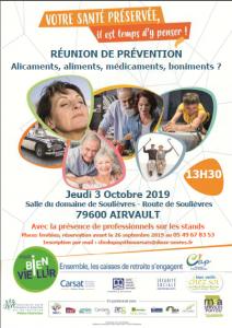 REUNION DE PREVENTION « Le sommeil, cet inconnu qui veille sur notre santé » - 79600 AIRVAULT @ Salle du domaine de Soulièvres | Airvault | Nouvelle-Aquitaine | France