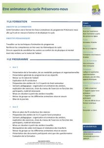 thumbnail of Programme Préservons-nous