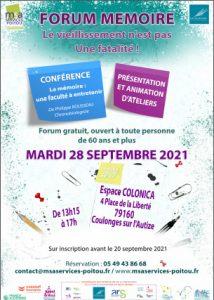 FORUM MEMOIRE !  79160 COULONGES-SUR-L'AUTIZE @ Espace Colonica | Coulonges-sur-l'Autize | Nouvelle-Aquitaine | France