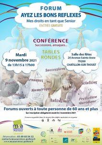 FORUM Ayez les bons réflexes ! - 79200 CHÂTILLON-SUR-THOUET @ Salle des Fêtes | Châtillon-sur-Thouet | Nouvelle-Aquitaine | France